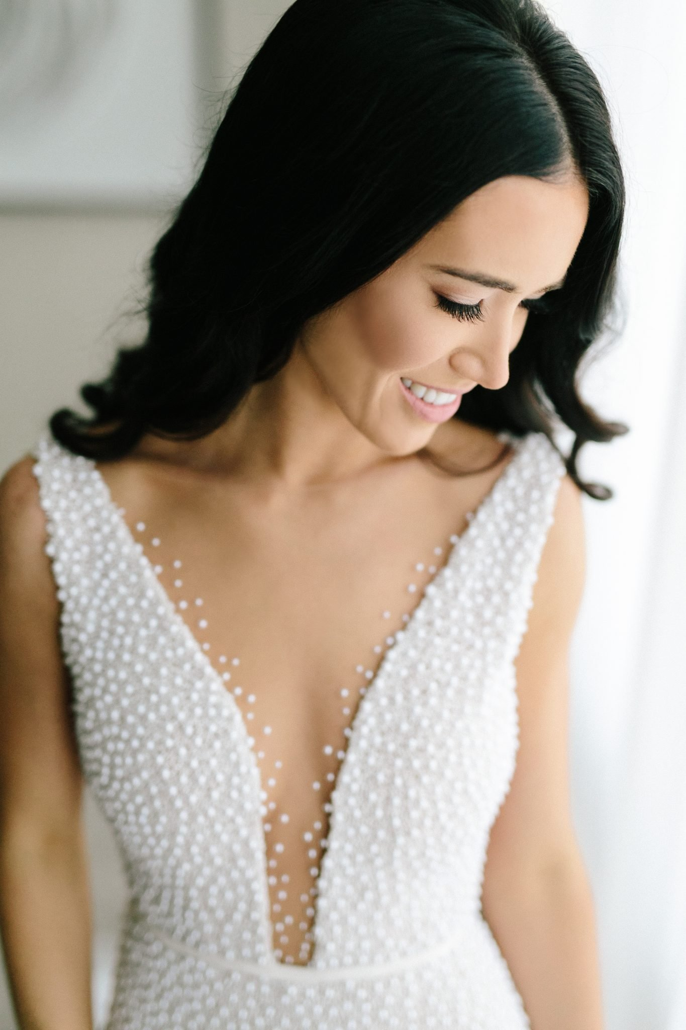 Lee Grebenau Bride wearing Ruby