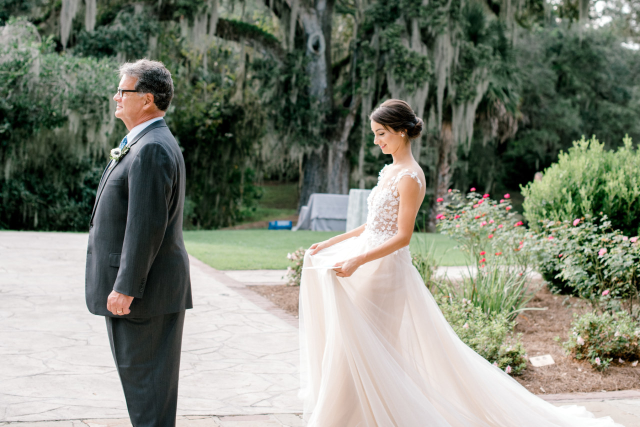 Lee Grebenau real bride wears Ann on her Charleston wedding