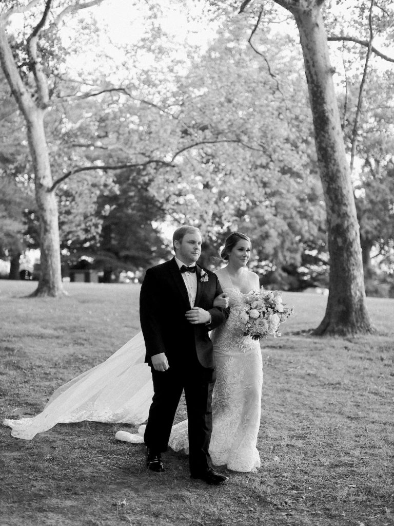 Lee Grebenau real bride in our Bella wedding dress