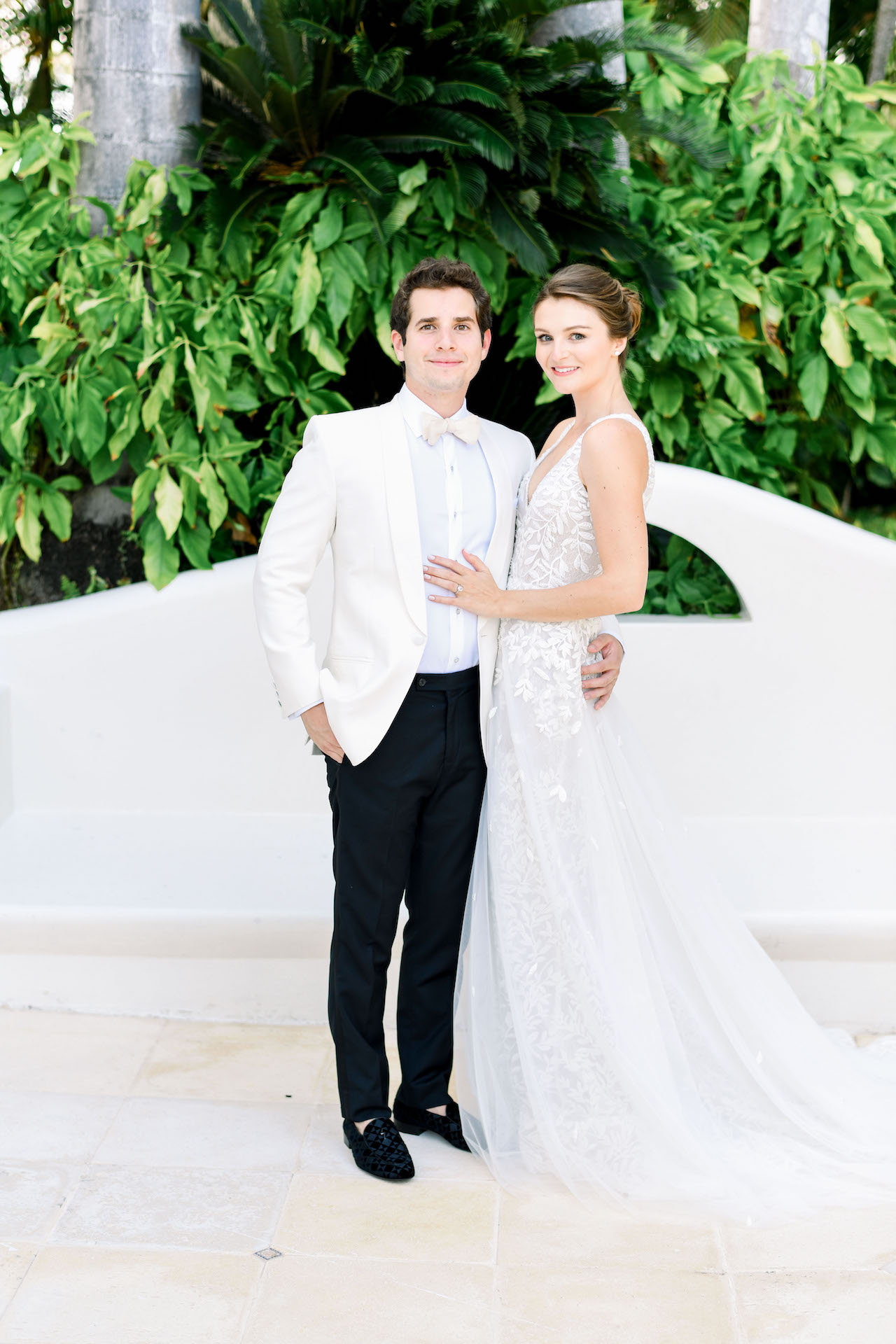 Lee Grebenau Bride wears Custom Bella