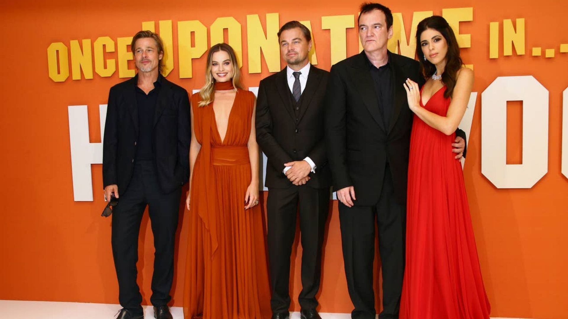 Daniella tarantino pick in lee grebenau at the once upon a time in hollywood london premiere