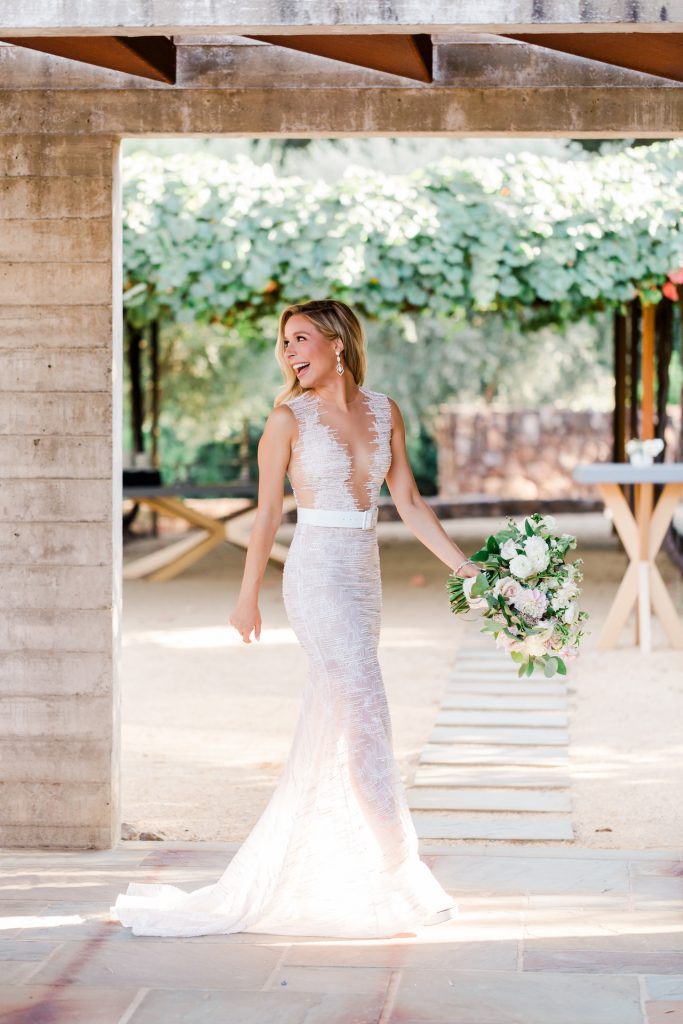 Kira Kazantsev in Lee Grebenau on her wedding