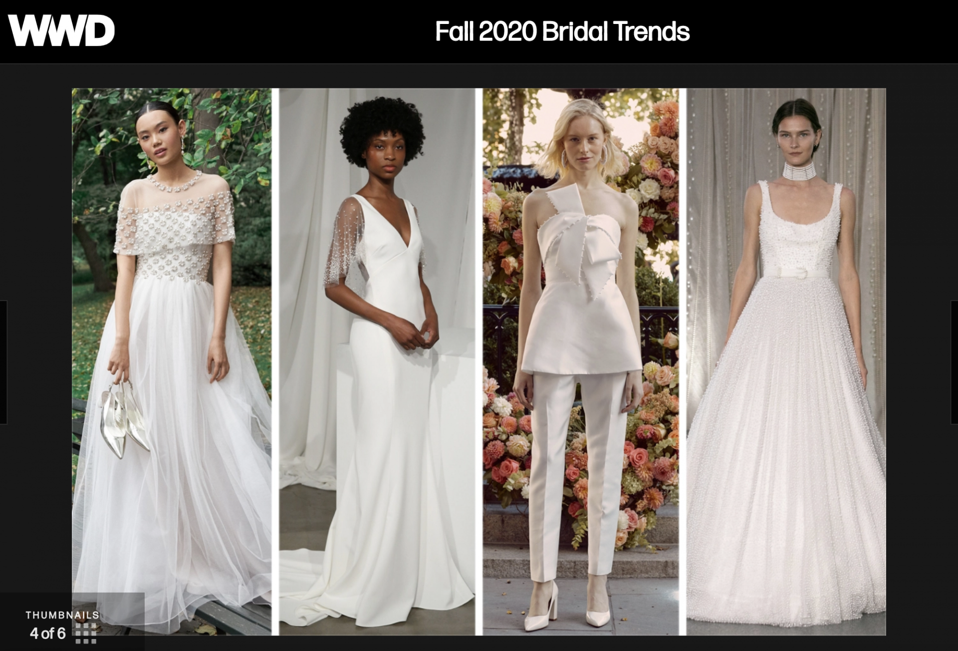 Wwd f2020 bridal trends