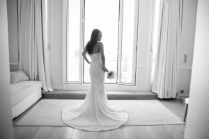 Lee Grebenau Bride Wearing the Alexis